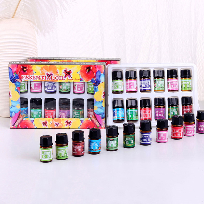 ELECOOL 3ml*12 Fragrances Aromatic Plant Water-soluble Essential Oils Water-soluble Freshen Air Relieve Stress TSLM2
