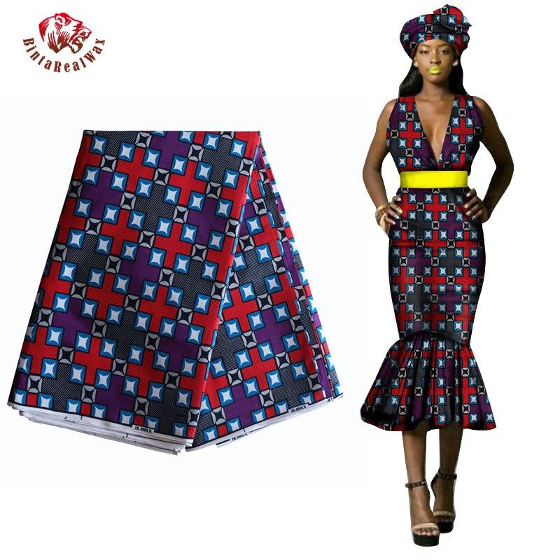 2019 Africká Ankara Tkaniny pro šaty z tkanin Garantovaný - Umění, řemesla a šití