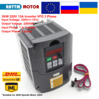 3KW 220VAC Inverter VFD 1HP or 3HP Input 3HP frequency inverter 400Hz 13A Speed control CNC Spindle motor speed control