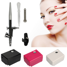 Suelina Airbrush&FREE SHIPPING Compressor Kit Portable Airbrush Spray Make Up Airbrush Cake Decorating Airbrush For Nail Tattoos