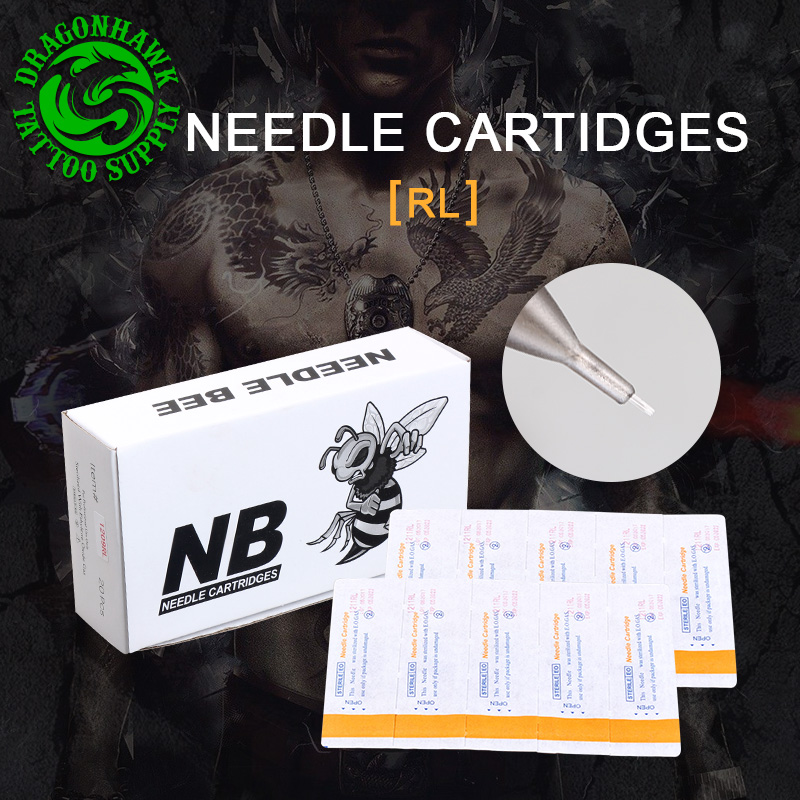 Box Of 20pcs Disposable Sterile Tattoo Cartridge Needles For Tattoo Rotary Pen Round Liner Shader Supplies disposable tattoo cartridge needles sterile single use for rotary pen grips 10pcs round liner needles supplies