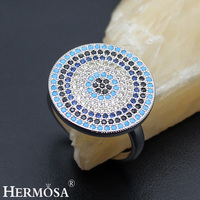 Round Nano Jewelry Fashion 925 Sterling Silver Ring Size 8 Hot Sales Wedding Gift Pretty Women