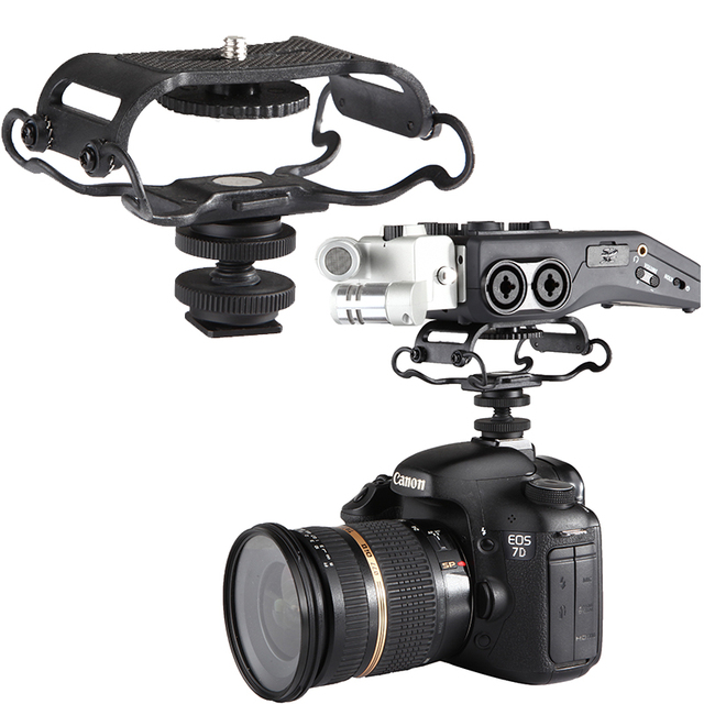 US $24 95 |Microphone Shock mount for Zoom H4n/H5/H6, for Sony Tascam DR  40/DR 05 Recorders microfone shockmount for Zoom Olympus Tascam -in