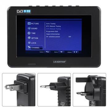 LEADSTAR Potable 7 inch  HD 1080P TFT TV LED Screen Mini TV  Digital Car TV DVB-T DVB-T2 ATSC ISDB Television Support USB Analog