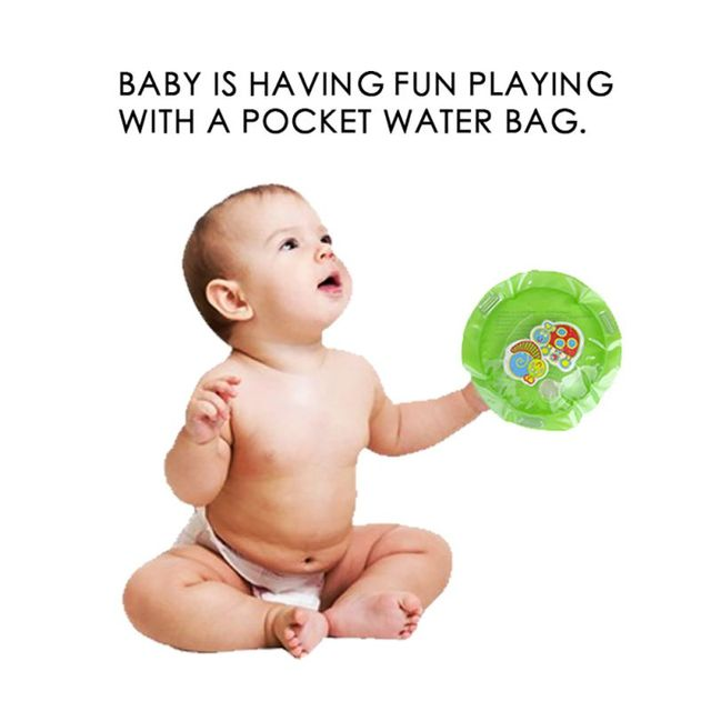 Children's Inflatable Water Cushion Pad Star Round Shape Water Play Mat Tummy Activity Center for Kids Baby Playing 3