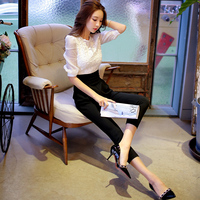 original 2018 brand rompers spring autumn slim fashion elegant patchwork black and white OL office jumpsuits women wholesale