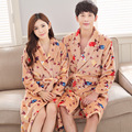 Soft Mink Flannel Sexy Women's Cartoon Sleep&Lounge Female Robes Plus Size Sleep Robes for Men Coral Fleece Couples Bathrobe
