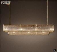 Modern Crystal Chandelier Light Rectangle Bronze Color Chandeliers Lamp Lustres Hanging Lighting Living Room Bar Bedroom Indoor