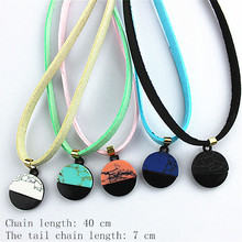 Ms hot popular jewelry wholesale girls birthday party gift plating black crack stones five color necklace with free shipping.