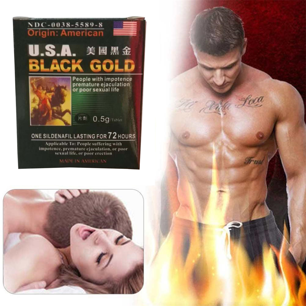 U.S.A. Black Gold 16 Pills Male For Men Natural Enhancement Good For Heath