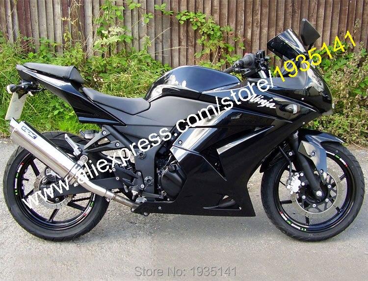 Hot Sales,For Kawasaki Ninja ZX 250R ZX250 2008 2009 2010 2011 2012 EX250 08-12 All Black Motorcycle Fairing (Injection molding) black windscreen windshield for kawasaki zx250r ex250r ninja 250r ninja250r 2008 2012 2008 2009 2010 2011 2012