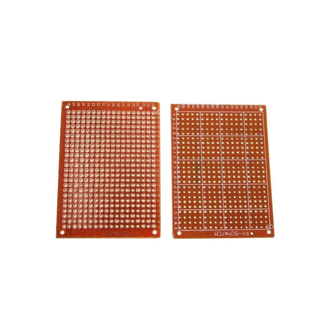 10Pcs high quatity!! new Prototype Paper Copper PCB Universal Experiment Matrix Circuit Board 5x7cm 1 pcs high quality heidelberg parts new board ltk50 91 144 8021 01a water reel drive circuit board ltk 50 91 144 8021