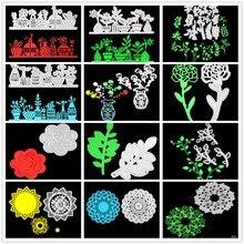 Flowers/plants  Metal Cutting Dies Scrapbooking Embossing DIY Decorative Cards Cut Stencils