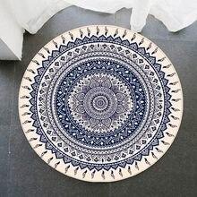 Tapetes decorativos da área do quarto da sala de estar da casa do tapete redondo de 100cm, água antiderrapante do engrossar da flanela absorvem, esteira do assoalho de 3 tamanhos
