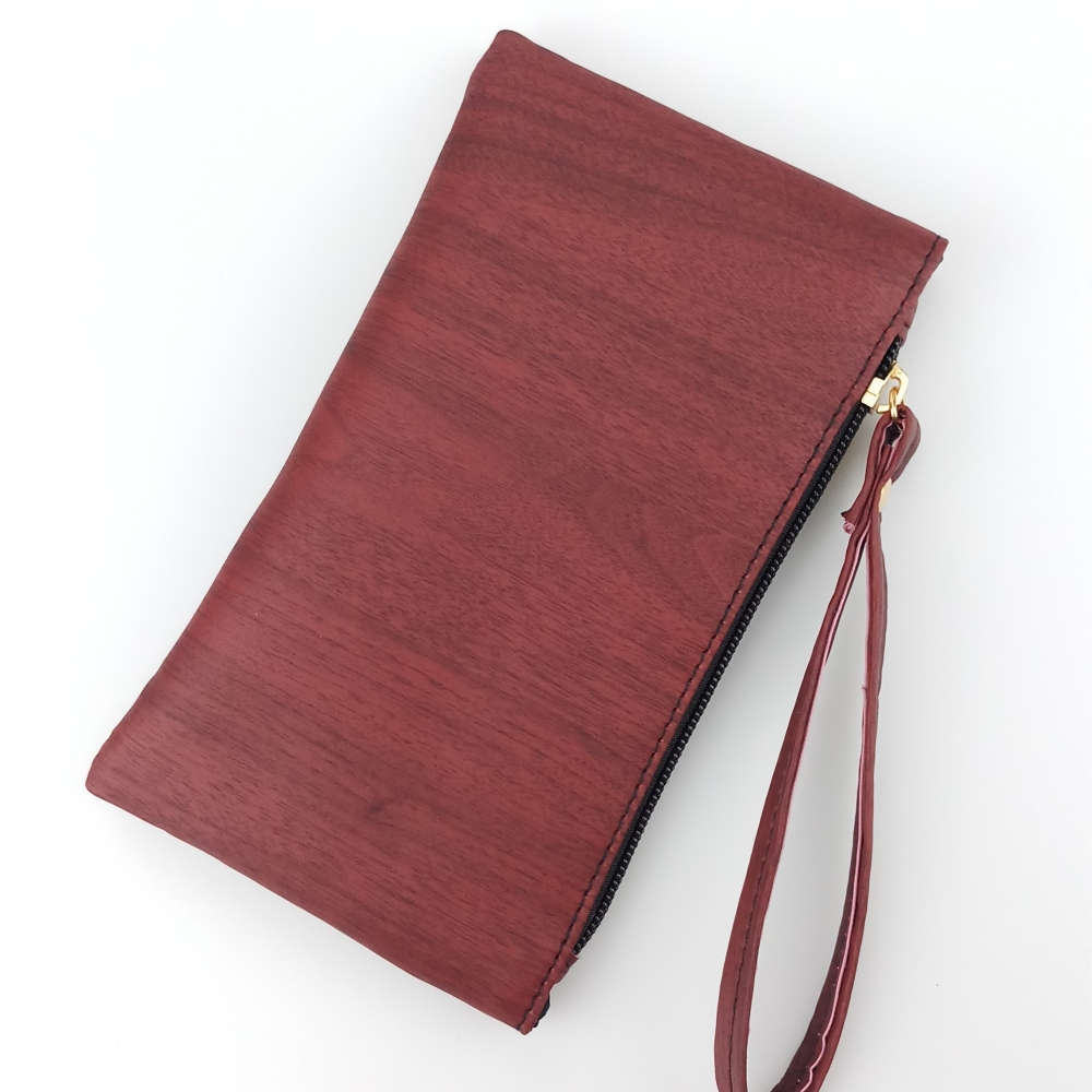 2018 New Fashion Wood Pattern Coin Purse Men Women Wallets Pu Leather Bag Zipper Small Clutch Phone Wristlet Portable Handbag
