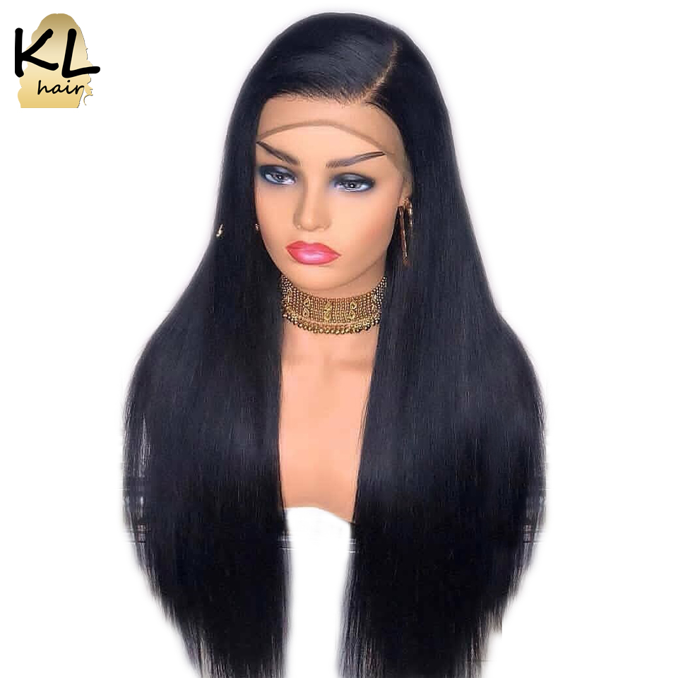 250 Density Straight Lace Front Human Hair Wigs For Black Women 13x4 Glueless Brazilian Remy Hair