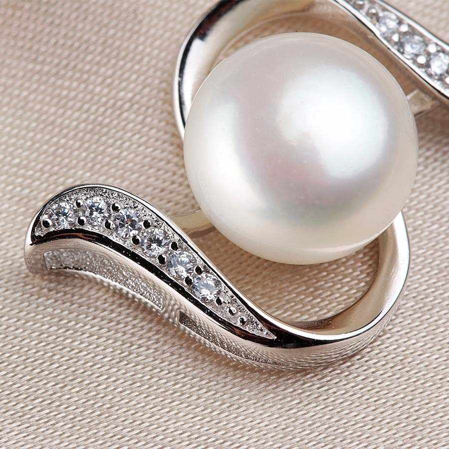 Elegant 925 Sterling Silver jewelry sets For Women Fashion AAAA High Luster 100% Natural Freshwater Pearl Zircon Wedding Jewelry