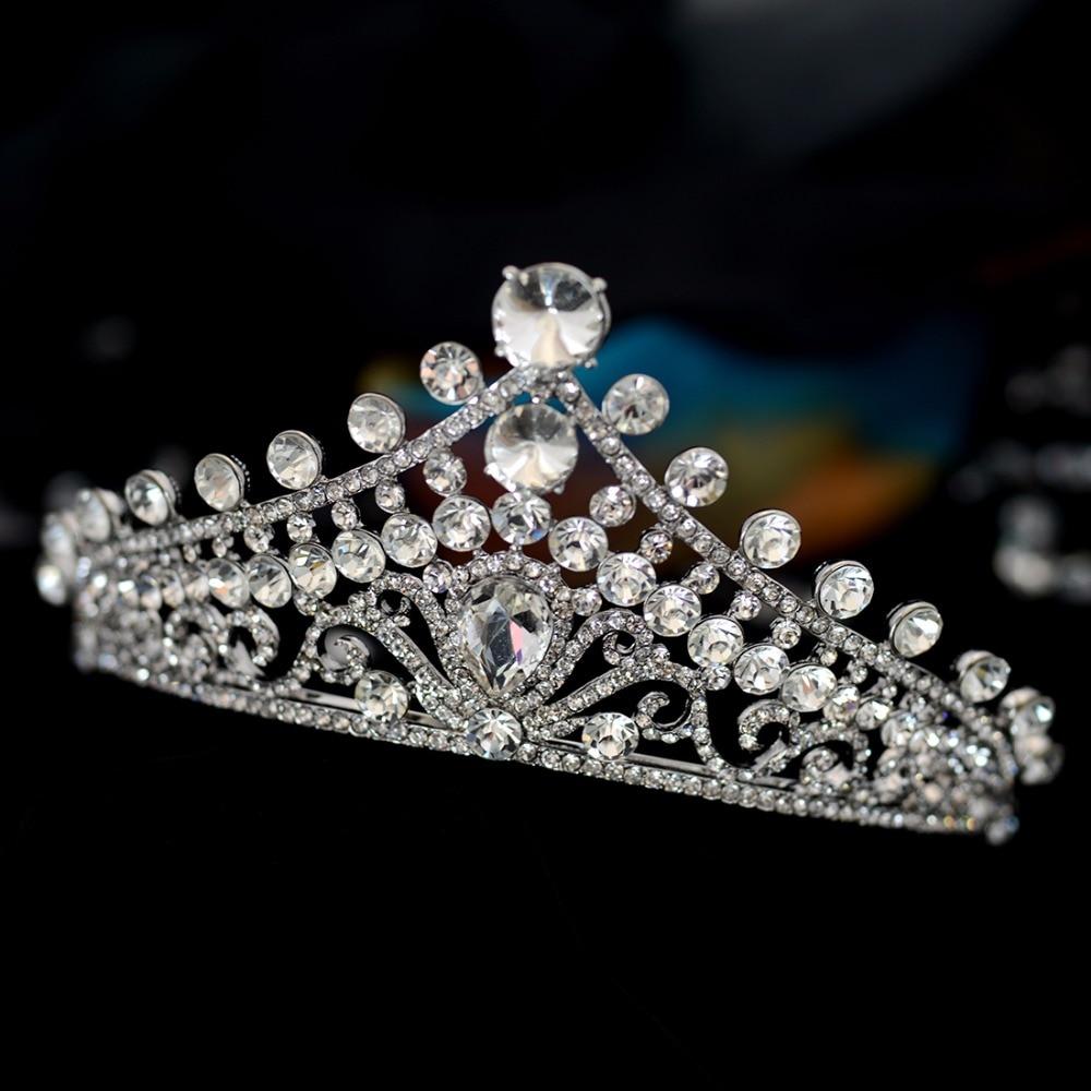 Royal highness new body shape alloy bride wedding headdress crown princess birthday crown wedding accessories.