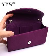 Purple Evening Bags Clutches With Portable Chain Rhinestone Wallet Purse Bag Women Luxury Handbags Box Designer Shoulder