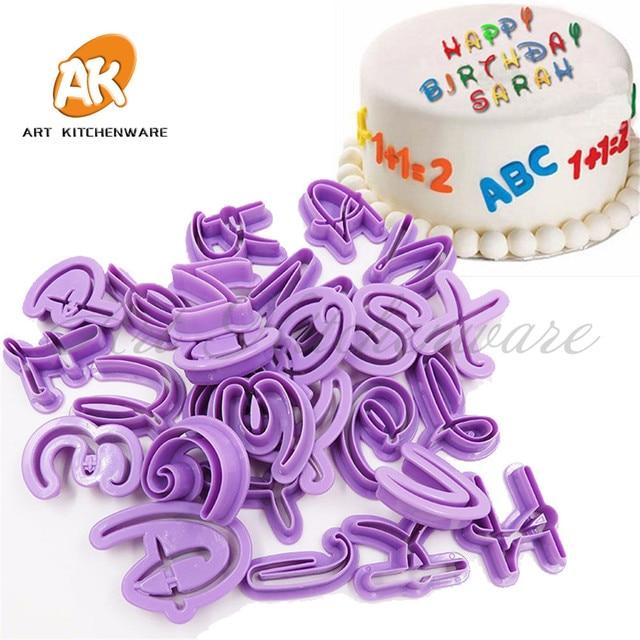 Diy Fondant Cutter Alphabet Cookie Cutter Set Plastic Cupcake Mold