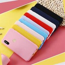Карамельный цвет мягкий TPU чехол для Xiaomi Redmi 4A 5A 6A 4X чехол s Redmi note 5A Prime 5 примечание 6 S2 7 8 Pro 8A 7A