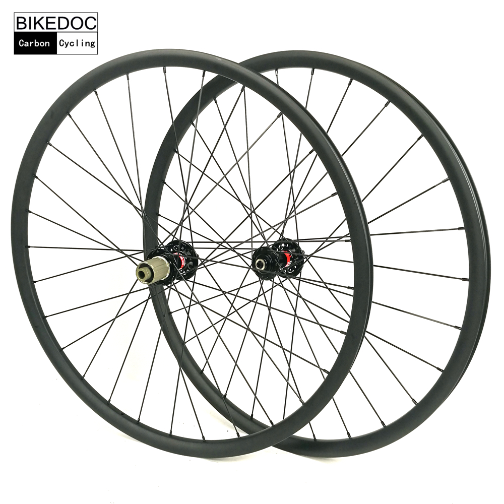 BIKEDOC 33mm*30mm Carbon Wheels 27.5er and 29er MTB Wheelset Eccentric Carbon MTB Wheels factory direct mountain bike clincher wheelset 29 inch 27 5er carbon mtb wheels 29er 650b carbon mtb wheels tubeless rims