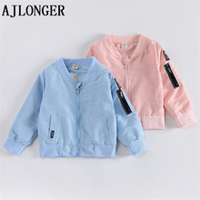 AJLONGER New Boys Girls Jackets For Children Cute Mickey Coat Kids Coats Baby Clothes Spring Outerwear Clothing