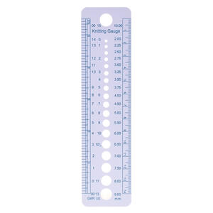 1PC High Quality Newest Knitting Needle Gauge Inch cm Ruler Tool US UK Canada Sizes 2-10mm Ruler wholesale