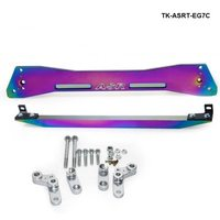 Car Billet Aluminum jdm Neochrome Rear Subframe Bar + Lower Tie Bar For Honda Civic 92 95 EG Suspension TK ASRT EG7C