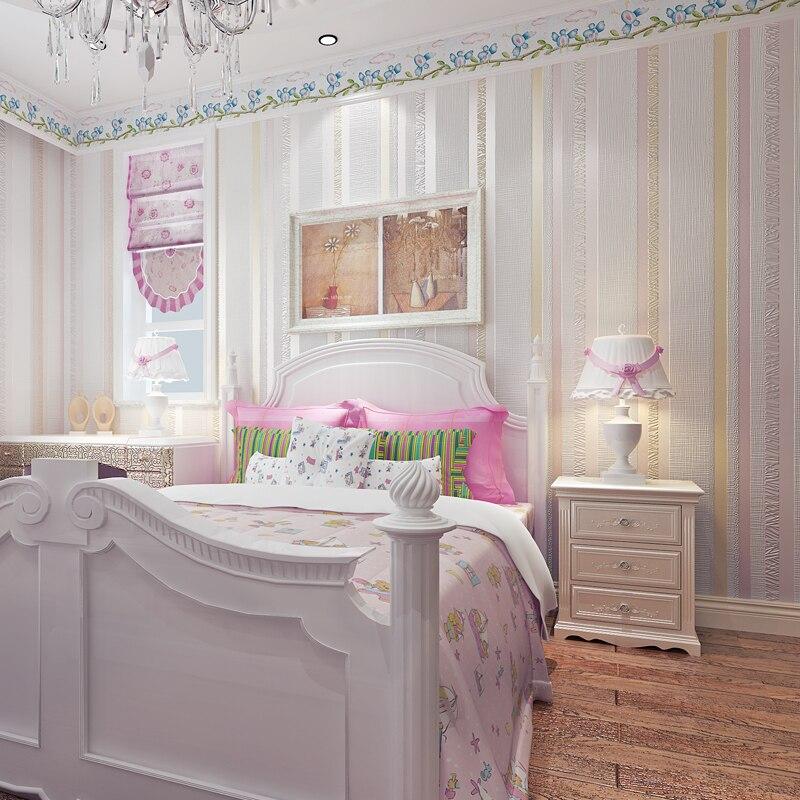 Rouleaux lavables de papier peint de rayure de l'or 3d pour le papier peint du vinyle 3d de chambre à coucher