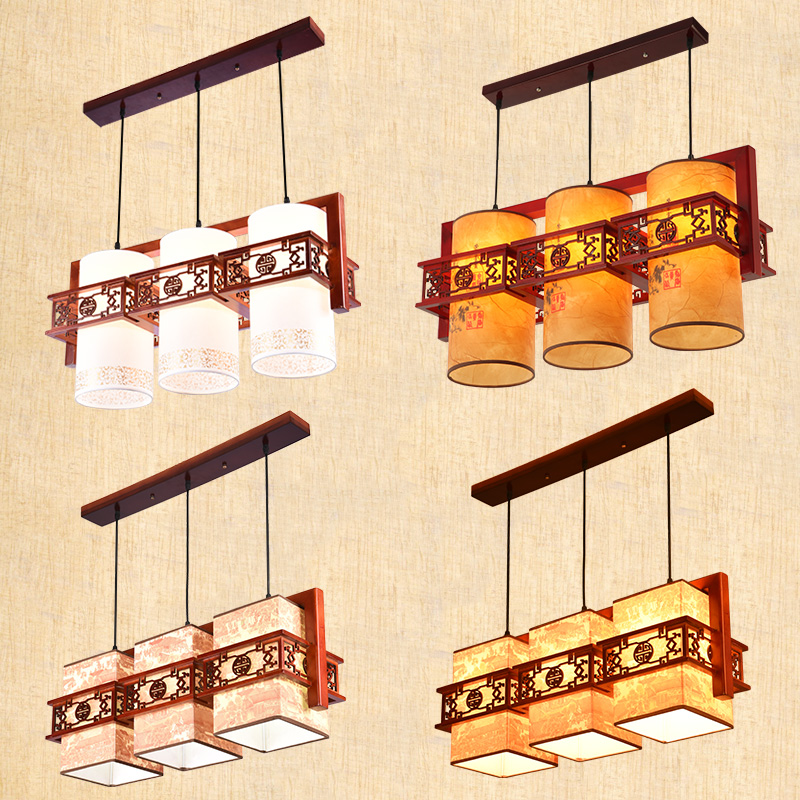 Chinese Style pendant light 3/2/1 Restaurant Coffee Shop Classical pendant lamp Wooden Antique Balcony Sheepskin Lamp wl4261023 chinese style antique wooden sheepskin chandelier lamp three classical teahouse atmosphere restaurant head send bless