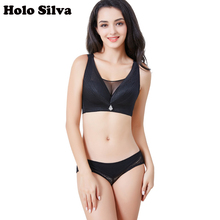 7b89ae351f1f2 Holo Silva Full Coverage Underwear Wire Free Lace Thin Lingerie Plus Size  Sexy Bras