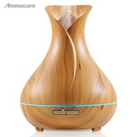 Aromacare 400ml Oil Diffuser Humidifier Shipping Free Ultrasonic Wood Grain Aromatherapy Essential Oil Diffuser