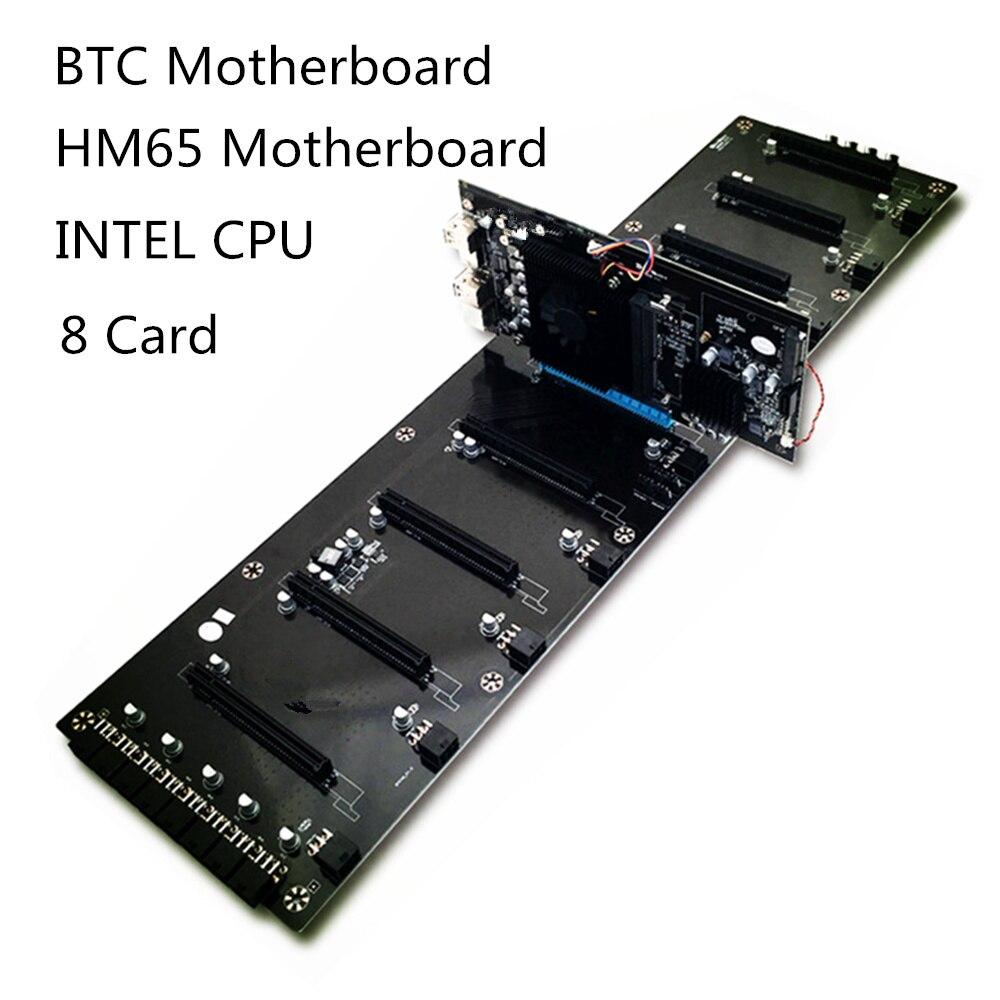 B250 BTC minero placa base HM65 CPU 8 tarjeta DDR3 memoria 8g MSATA SATA2.0 USB2.0 expansión adaptador de computadora de escritorio de la placa base