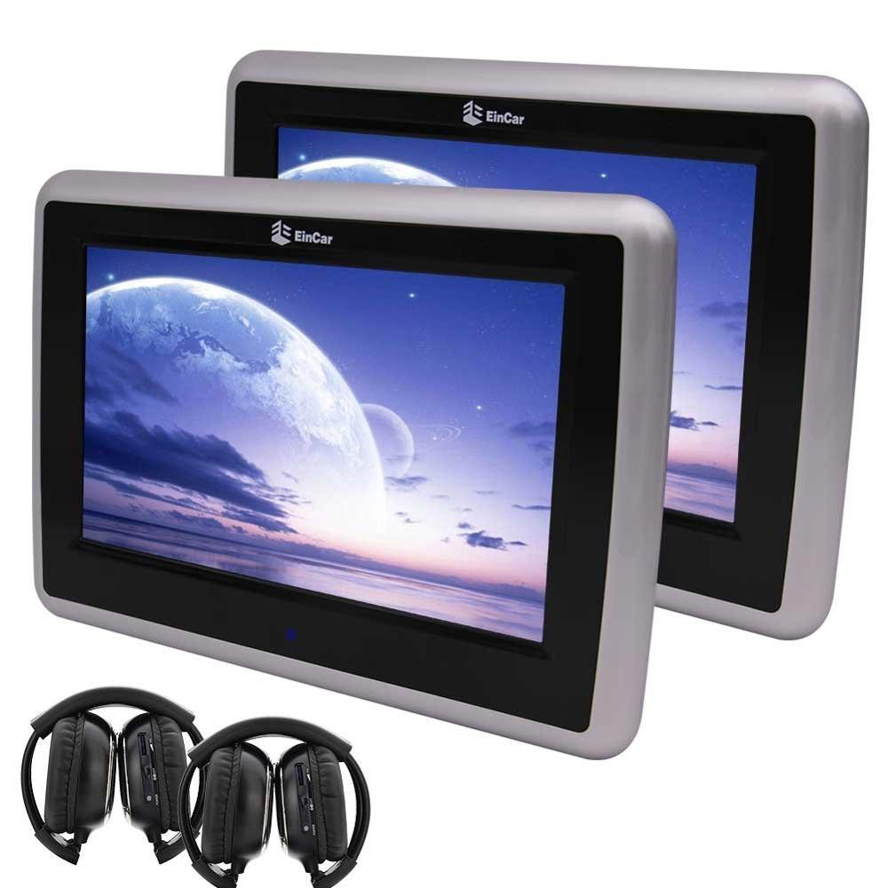 9 dual screen car dvd player hd touch screen car backseat headrest dvd player