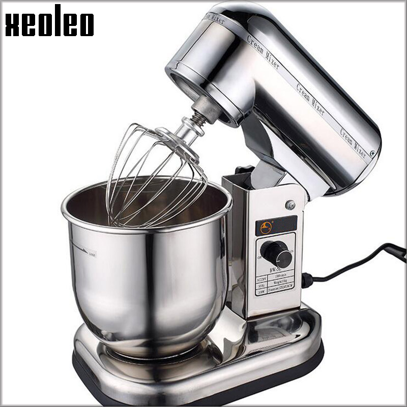 XEOLEO Stand mixer Stainless steel Milk mixer 5L/7L 300W Commercial Food Mixer Dough kneading machine Dough mixer Egg Beater stainless steel dough mixing machine home automatic kneading machine small commercial electric mixer 2 kg capacity dough mixer