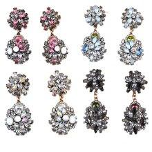 BK hot sell Trend FashionCrystal Statement Earrings Women Luxury Vintage Jewelry