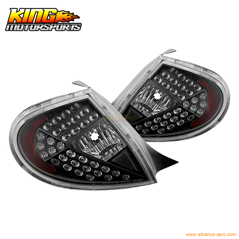 For 00 01 02 Dodge Neon LED Brake Tail Light Lamps Black Housing Clear Lens USA Domestic Free Shipping for 04 10 nissan titan armada fog lights clear light lamps passenger driver usa domestic free shipping hot selling