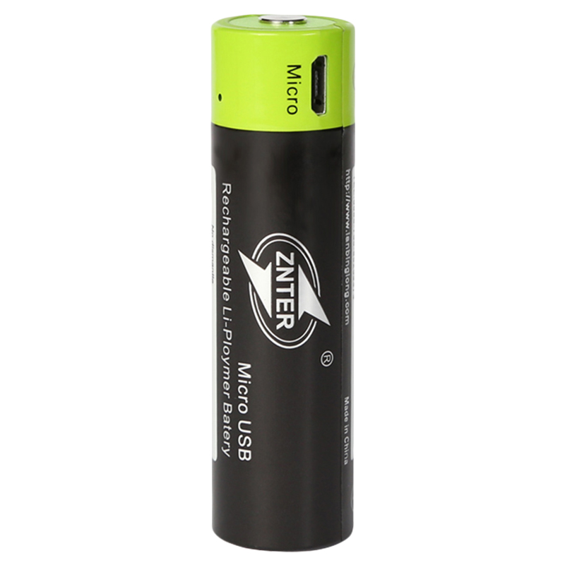 ZNTER 1Pcs 18650 Rechargeable Battery <font><b>3.7</b></font> <font><b>V</b></font> <font><b>1500Mah</b></font> Aa Usb Charging Lithium Battery Equipped With Micro-Usb Charge image