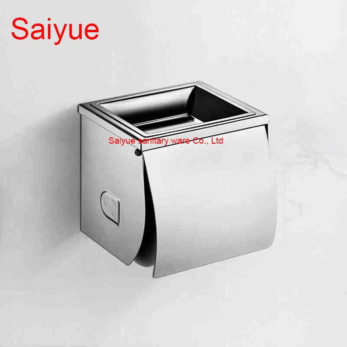 New 304 Stainless Steel Toilet Paper Holder WC Cover Ashtray Roll Tissue Rack Shelf  Bathroom Banheiro accessories new pure luxury white painting toilet lavatory wc paper holder with diamond roll tissue porte papier bathroom accessories