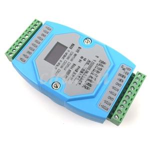 Image 2 - 6 דרך OLED PT100 PT1000 CU50 CU100 NI1000 טמפרטורת מודול רכישת טמפרטורת משדר MODBUS RTU