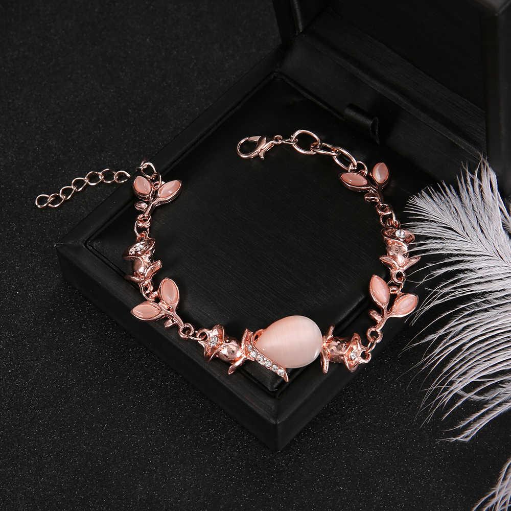 בוהמי אופנה רטרו גיאומטרי אבני חן רוז קריסטל צמיד נשים מהודרת מסיבת חתונה תכשיטי אבזרים