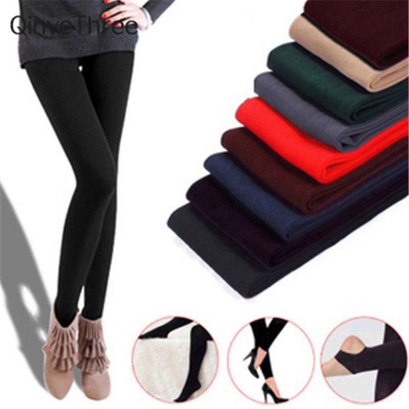 Hot 2018 New Fashion Womens Autumn And Winter High Elasticity And Good Quality Warm Leggings Thick Velvet Pants Free