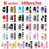 100 stks Hot Nail Art Patch Sticker Mix Ontwerpen Volledige Cover Lijm Nail Wraps DIY Nail Accessoires Groothandel