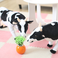 Big size toys 70cm Emulational Milk Cow Toy Plush Soft Stuffed Big Animal Cow Doll Nice Gift and Decoration 28inches