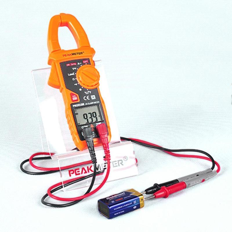 Peakmeter PM2018S Smart AC Digital Clamp Meter Tester Dual-display Auto Range Multimeter AC/DC Voltage Resistance NCV Frequency
