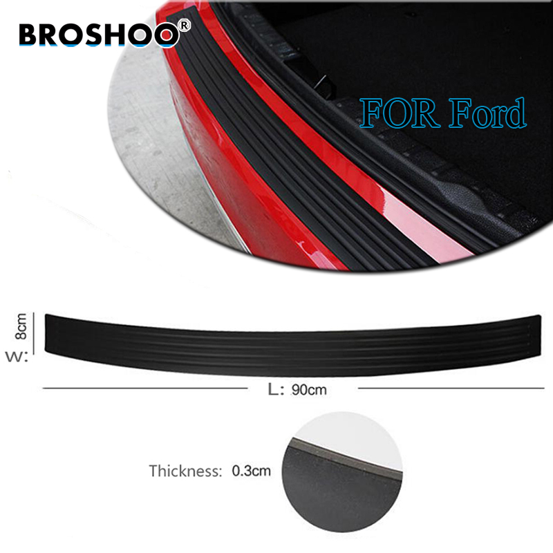 BROSHOO Car Styling Rubber Rear Guard Bumper Trunk Protector Trim Cover Strip For Ford For Focus Monoeo C-max B-max Fiesta S-max ...