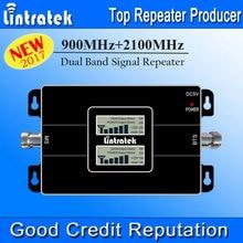 2017 NEUE Lintratek Dual LCD Displays 3G GSM Signalverstärker 900 MHz UMTS 2100 MHz 2G 3G Dual Band Handy Signal Booster #48