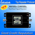 2017 NEW Lintratek Dual LCD Displays 3G GSM Signal Repeater 900MHz UMTS 2100MHz Dual Band Cell Phone Signal Booster S22