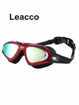 Na receptę optyczne krótkowzroczność silikonowe profesjonalne duża ramka okulary pływackie profesjonalny dioptrii basen kąpielowy okulary pływackie
